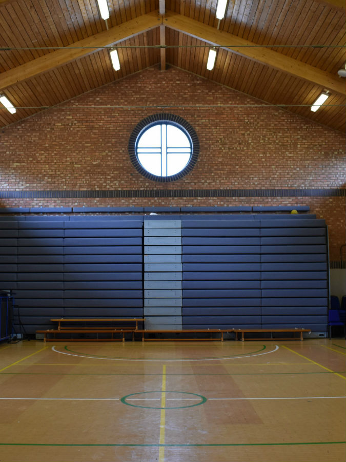 After photo of the school sports hall in Essex