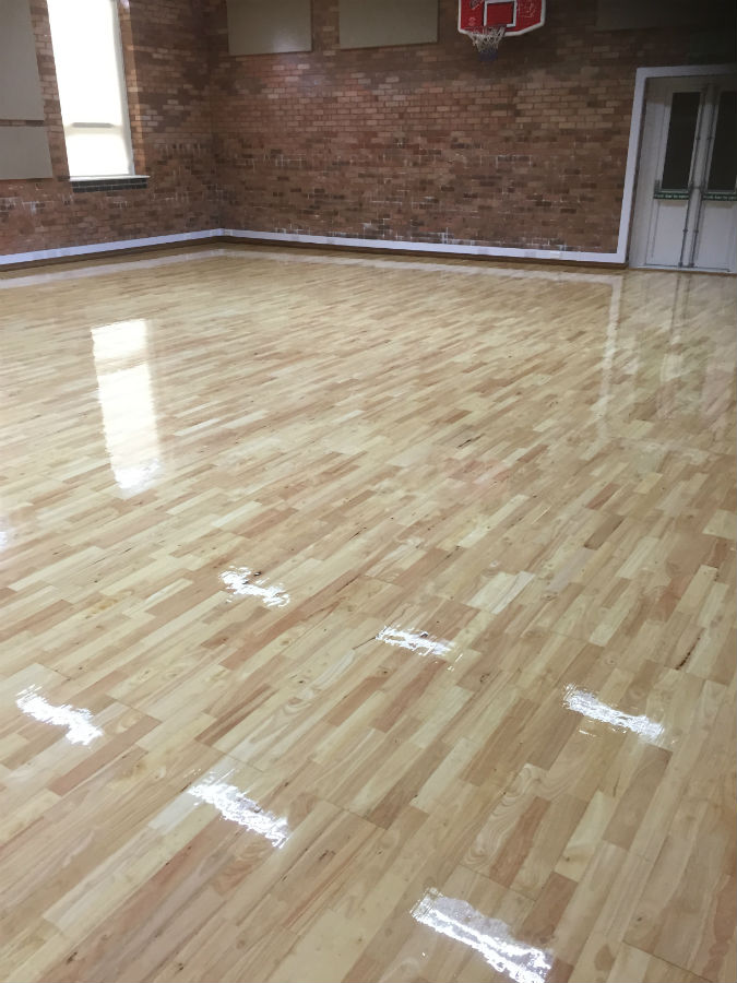 Sports Hall Sand Maple Wales Roger Hyde Limited