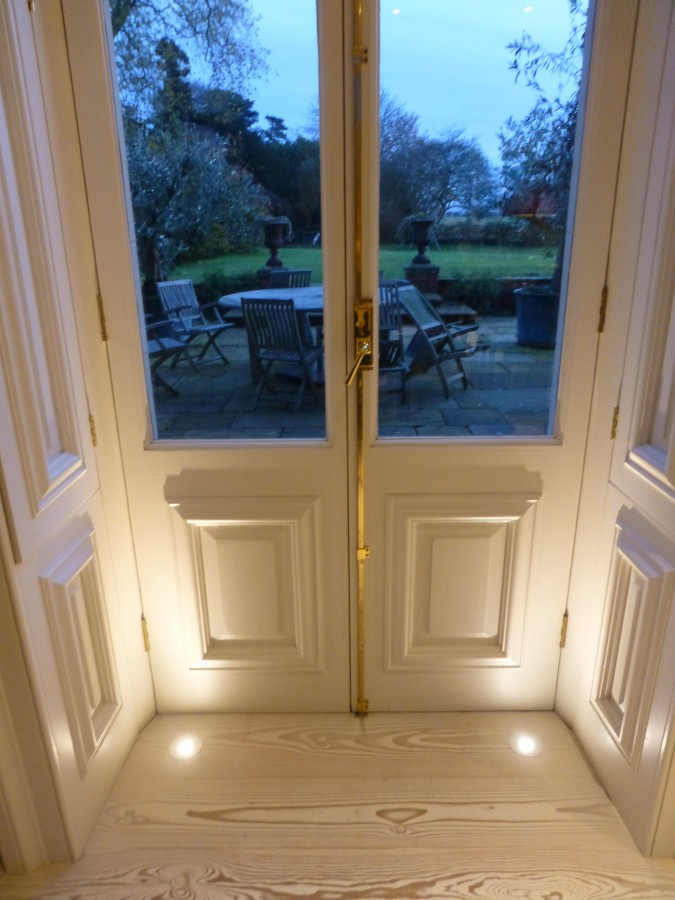 Floor lights detailing Residential Suffolk Douglas Fir Dinesen
