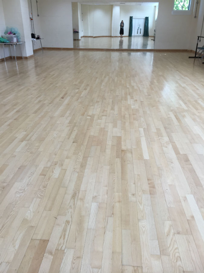 After new Junckers floor installed