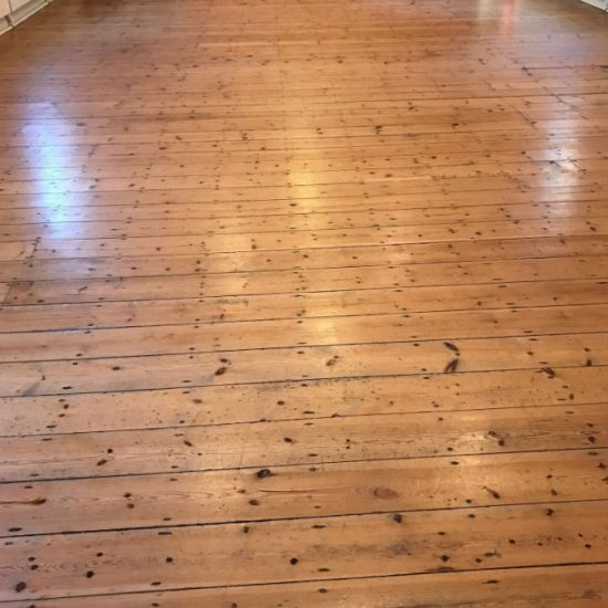 Village Hall Pine Floor