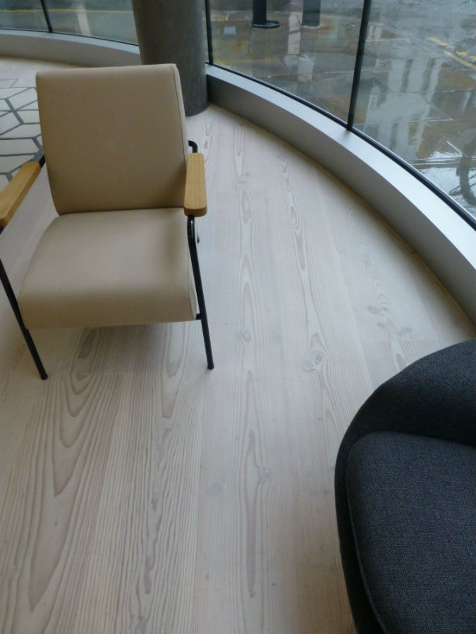 Maintenance of Dinesen Douglas Fir Office Reception floor