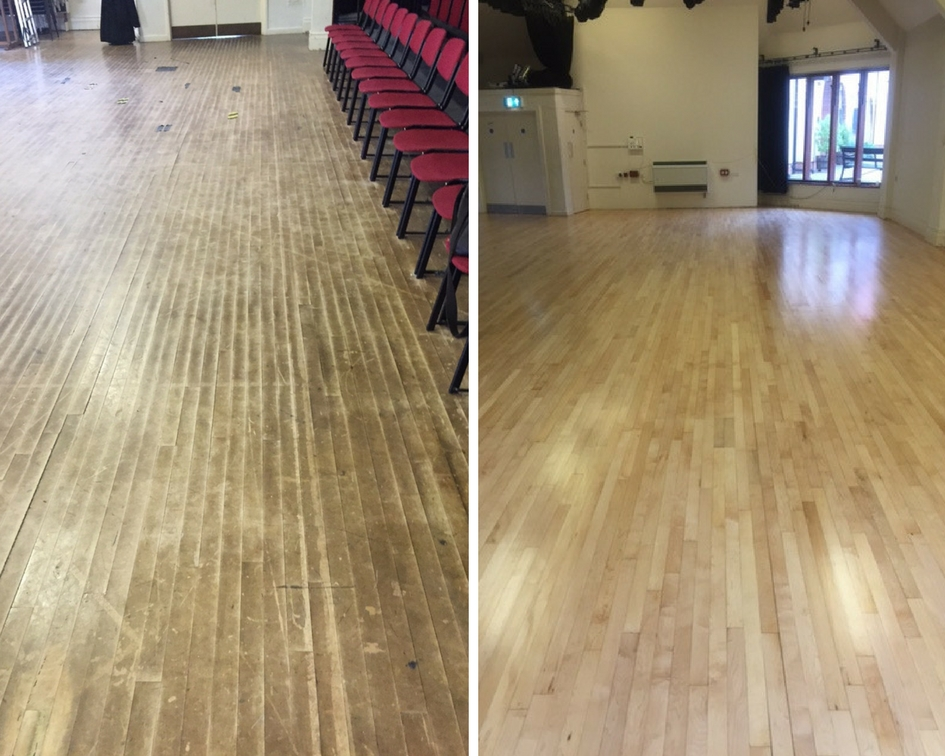 School Before and After sanding