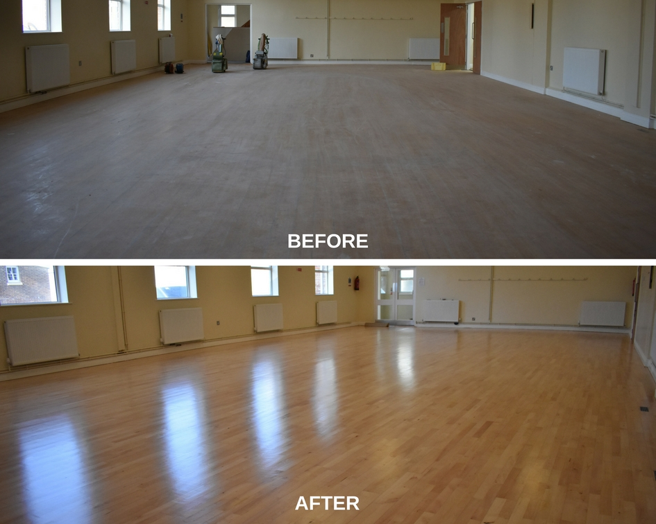 Queens Hall before and after