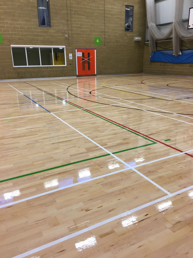Finished sports floor