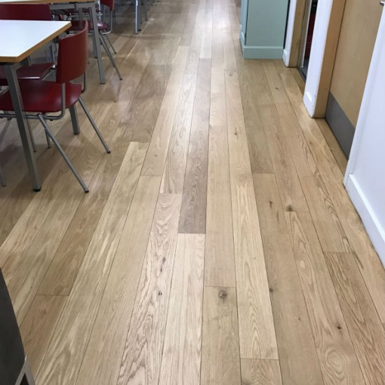 After sand and seal of oak floor